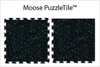 Moose PuzzleTile™ Fitness / Weight Room Flooring
