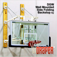 Draper Wall Mounted Side-Folding Basketball Backstop