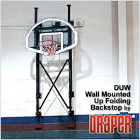 Draper Up-Folding Wall Mounted Basketball Backstop