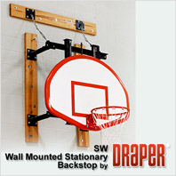 Draper Stationary Wall Mounted Basketball Backstop